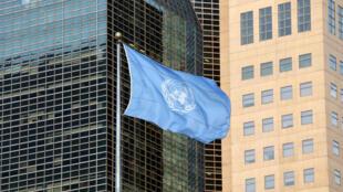 La bandera de la ONU ondea en el frente de su sede en Nueva York, 23 de septiembre de 2019