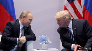 俄罗斯总统普京与美国总统特朗普资料图片