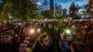 Протест против строительства храма в сквере Екатеринбурга.