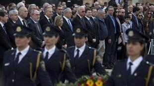 Personalidades como Joe Biden, Benjamin Netanyahu e Tony Blair prestam última homenagem ao ex-premiê Ariel Sharon.