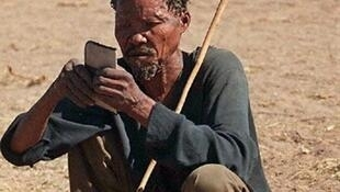 Un Bushman du Botswana.