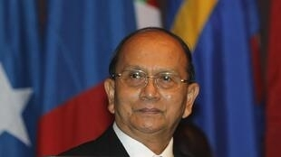 Myanmar's President Thein Sein attends the opening ceremony of the 69th Commission Session of the Economic and Social Commission for Asia and the Pacific (ESCAP) at the United Nations building in Bangkok April 29, 2013.