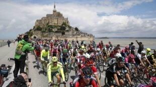El Monte Saint-Michel fue el punto de partida de la primera etapa del Tour de Francia 2016.