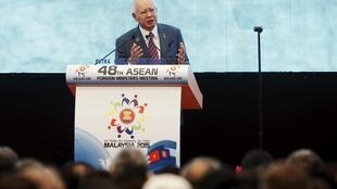 Thủ tướng Malaysia Najib Razak phát biểu trong phiên khai mạc Hội nghị Ngoại trưởng ASEAN lần thứ 48, Kualar Lumpur, 04/08/2015