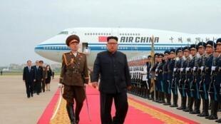Lãnh đạo Bắc Triều Tiên Kim Jong Un trở về nước, ngày 13/06/2018, sau thượng đỉnh với Donald Trump ở Singapore. Ảnh do KCNA cung cấp.