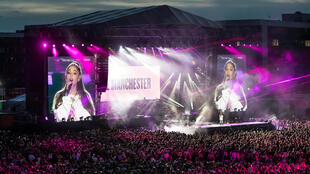 Ariana Grande performs during the One Love Manchester benefit concert for the victims of the Manchester Arena terror attack at Emirates Old Trafford, Greater Manchester, Britain June 4, 2017