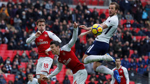 Tottenham's Harry Kane scores their first goal