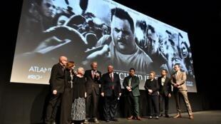 L'équipe du film «Le cas Richard Jewell», le 10 décembre 2019, à Atlanta.