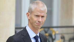 O ministro da Cultra francês, Franck Riester, em 2 de outrubro de 2019, no Palácio do Eliseu. O ministro foi contaminado pelo coronavírus.