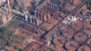 An aerial view of the plant