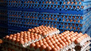 Trong thời kỳ dịch Covid-19, nhu cầu trứng gà tăng vọt đột ngột khiến nhiều siêu thị « cháy hàng ».
