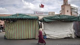 Les boutiques à Marrakech sont vides.