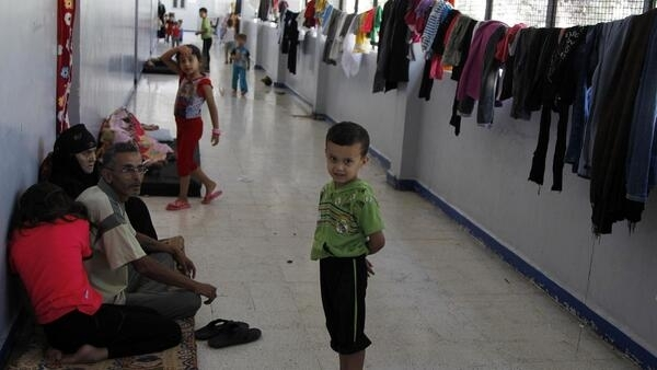 Internally displaced people living in a school in the capital city of Damascus, 16 September, 2012