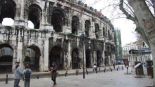 The Gallo-Roman theatre in Nîmes in the Gard