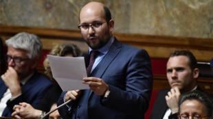 Ludovic Mendes, député LREM de la Moselle, à l'Assemblée nationale à Paris, le 22 mai 2018.