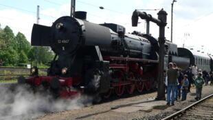 Une locomotive à vapeur utilisée pendant l'Holocauste.