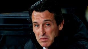 L'entraîneur Unai Emery (Arsenal), lors du match contre Vitoria, le 6 novembre 2019.