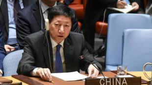 中國駐聯合國代辦吳海濤2017年12月15日聯合國安理會