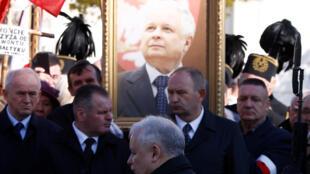 Ảnh cố tổng thống Lech Kaczynski, tử vong trong tai nạn máy bay Smolensk ngày 10/04/2010.