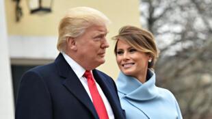 Donald Trump e a esposa Melanie Trump