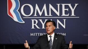 El candidato republicano Mitt Romney.