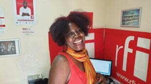 La chanteuse Ymelda Marie Louise au studio de RFI, à Port-au-Prince.
