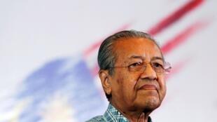 Le Premier ministre malaisien démissionnaire Mahathir Mohamad le 27 mars 2016 à Kuala Lumpur.