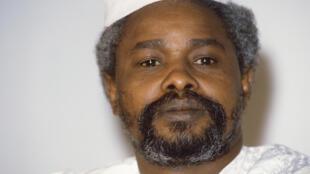 Hissène Habré, aqui em Janeiro de 1987 em Ndjamena.