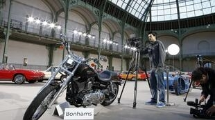The pope's bike at the Grand Palais in Paris, 5 February 2014.