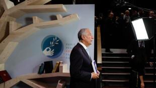 Presidente português, Marcelo Rebelo de Sousa, em Paris