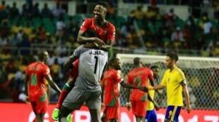 Juary Soares marcou o golo da Guiné-Bissau na estreia com o Gabão.