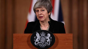 Anh Quốc : Thủ tướng Theresa May họp báo tại phủ thủ tướng ngày 02/04/2019.