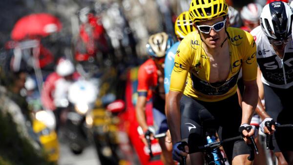 12-й этап велогонки «Тур де Франс», 19 июля 2018.