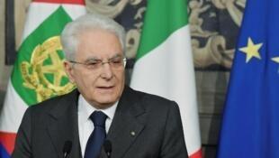 Le président italien Sergio Mattarella (photo) sera peut-être amené à dissoudre le Parlement et à convoquer de nouvelles élections législatives s'il ne trouve pas une majorité de gouvernement.