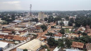 Vue de la capitale Bangui, en RCA, en septembre 2015.