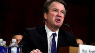 美國最高法院大法官提名人卡瓦諾在華盛頓國會山參議院司法委員會作證2018年9月27日