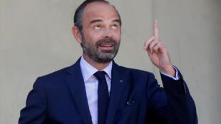 Thủ tướng Pháp Edouard Philippe, rời phủ tổng thống Elysées, sau cuộc họp hội đồng bộ trưởng, Paris, ngày 10/10/2018