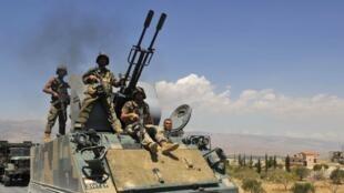 Des soldats libanais à Ersal, en août 2014.