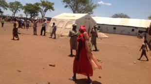 South Sudanese refugees in Ayilo refugee camp in Uganda