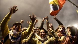 Les organisations indiennes fêtent l'accord de sortie de crise en Equateur dimanche 13 octobre en fin de journée à Quito.