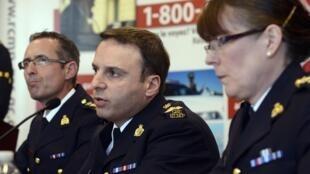 Cảnh sát Toronto, họp báo về âm mưu khủng bố. Ảnh ngày 22/04/2013