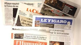 Primeiras páginas dos jornais franceses de 12 de dezembro de 2018