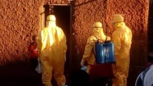 Ugandan Ebola surveillance agents at work