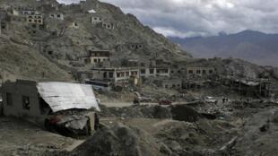 Destruction after flash floods in Leh