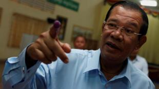 Ảnh minh họa :Thủ tướng Cam Bốt Hun Sen. Ảnh ngày 25/02/2018.