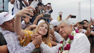 Candidato Obrador em Cancun, 26 de Junho 2018.