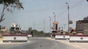 Checkpoint de l'armée à Arich, dans le Nord-Sinaï, le 15 juillet 2013.