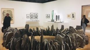 « Vòng tròn - con rắn », một tác phẩm tạo hình bằng chất liệu đá của nghệ sĩ Richard Long, năm 1991.