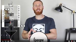 Le youtubeur Gilles Mitteau (capture d'écran).