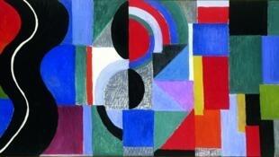 """""""Ritmo Sincopado"""" (A Serpente Negra), óleo de Sonia Delaunay,1967"""